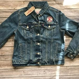 Boston Red Sox Women's Levi's Trucker Jean Jacket